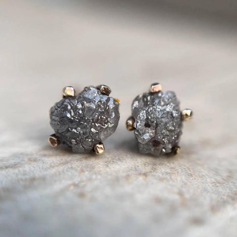 Grey Diamond Studs
