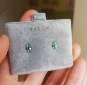 Emerald Studs - Magick Alchemy