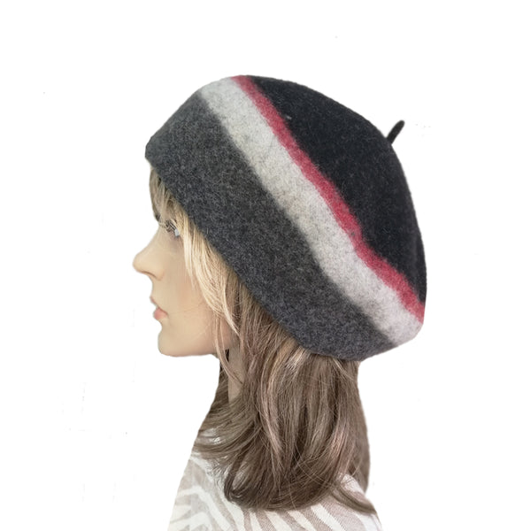 Multicolor French Felted Wool Winter Warm Beret