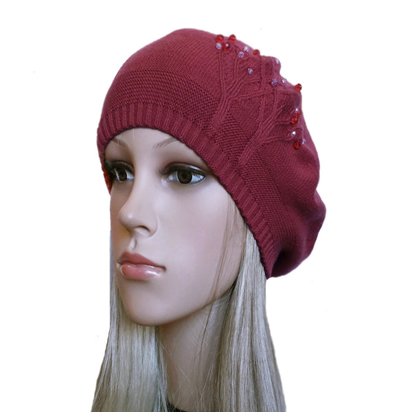 Wholesale  knit womens beret beanie