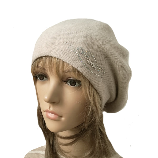 Wholesale Slouch Beret Beanie for Fall Winter Wool Knit Beret