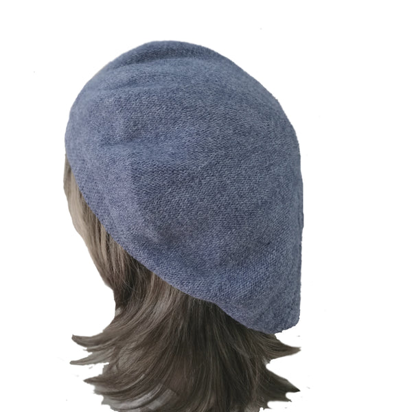 Denim  Women's Knitted Wool French Beret for Winter