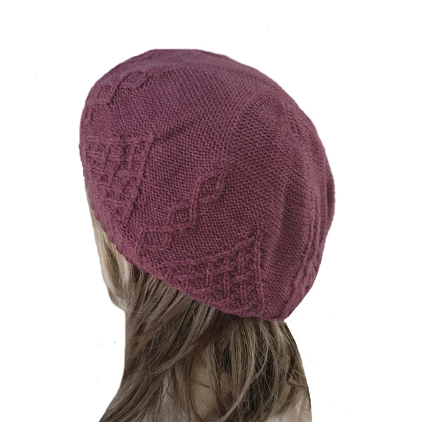 Winter Women's Wool Beret - Hat with Lining