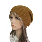 Wholesale Mustard casual style wool beanie for women