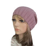 Wholesale Pink casual style wool beanie for women