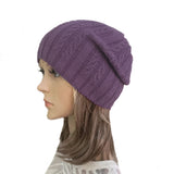 Wholesale Purple casual style wool beanie for women