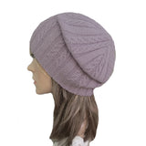 Wholesale Lilac casual style wool beanie for women