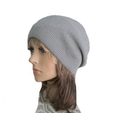 Wholesale Gray Boho Street Knitted Slouch Beanie