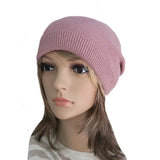 Wholesale Pink Boho Street Knitted Slouch Beanie Cap