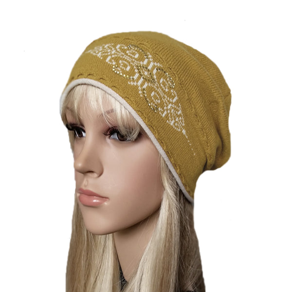 Wholesale wool knit women's beanie for winter , fall, spring