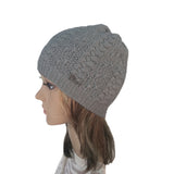 Wholesale Gray Knit Wool Slouchy Hat Street Style