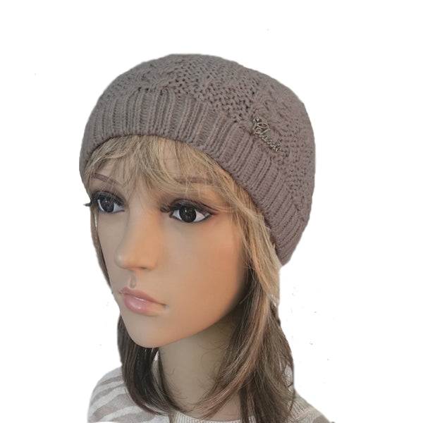 Wholesale Brown Knit Wool Slouchy Hat Street Style