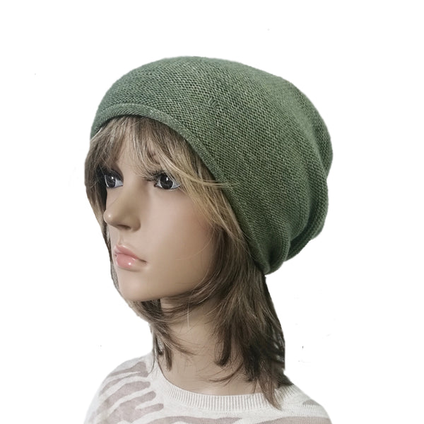 Wholesale Green Knitted Winter Casual Beanie Cap
