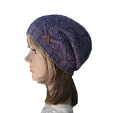 Wholesale  Lilac Knitted Wool Women's Slouch Beanie