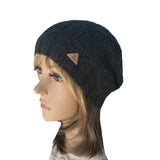 Wholesale  Black Knitted Wool Women's Slouch Beanie
