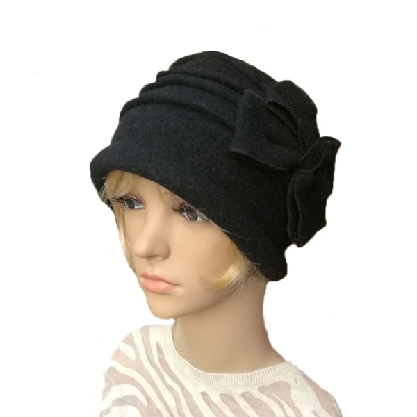 Black Winter Women's Felted Hat