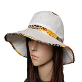 White Summer Linen Women's Hat