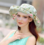 Summer Women's Cotton Hat - Olive Sun Brimmed Hat