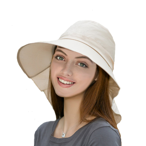 Beige Summer Women's Hat with Visor