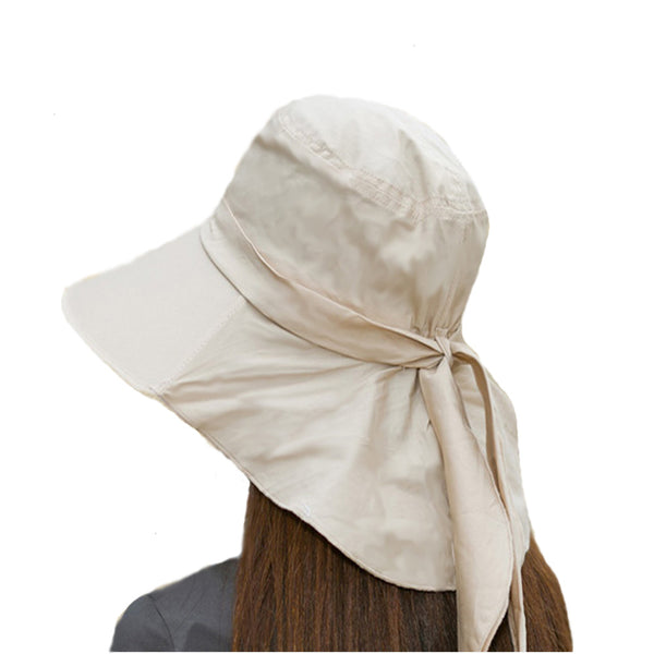 Beige Summer Womens Lightweight Hat with Visor