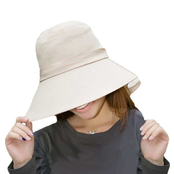 Beige Sun Womens Lightweight Hat with Visor