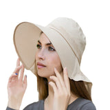 Beige Summer Womens Light Weight Hat with Brim