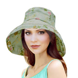 Summer Women's Cotton Hat with Wide Brim