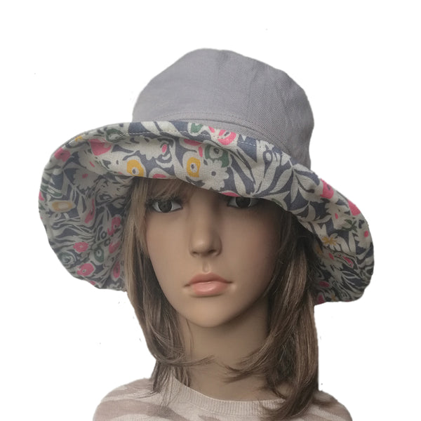 Wide Brim Women's Sun Hat -  Floppy Summer Hat