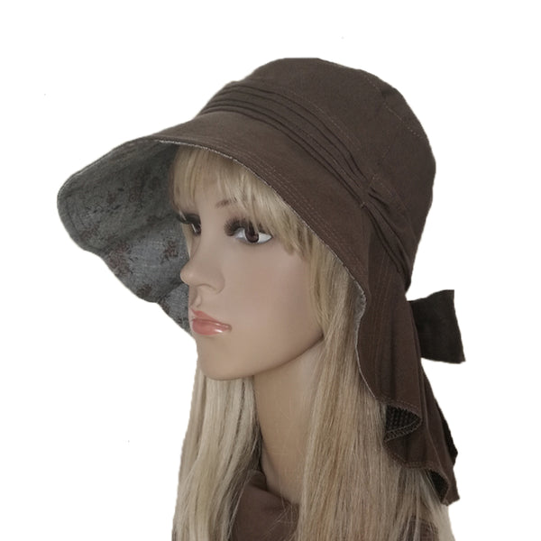 Wholesale Brown Cotton Summer Hat