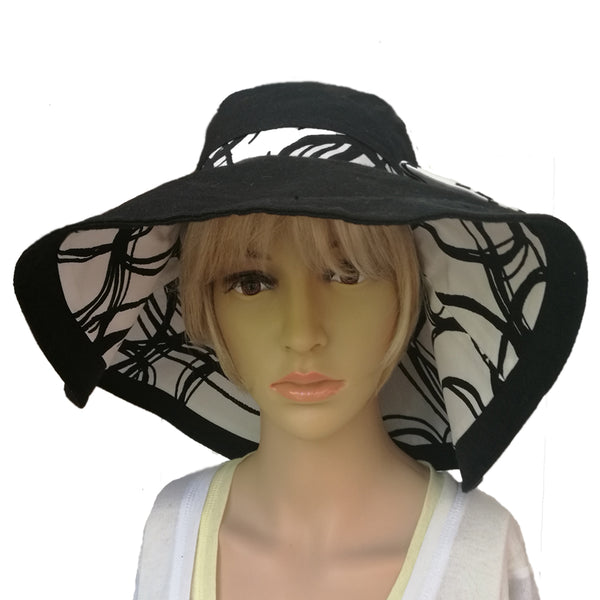 Wholesale Linen Sun Women's Hat  Organic Cotton White Hat