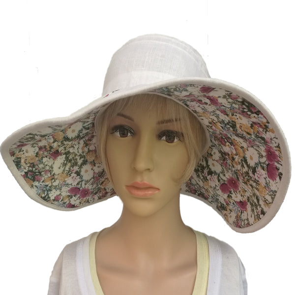 Wholesale White Floppy Women's Sun Hat