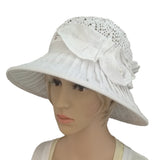 Linen Suns Hat for Women Wide Brim  Cotton Brimmed Summer Hat