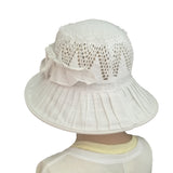 Linen Suns Hat for Women Wide Brim Summer Hat