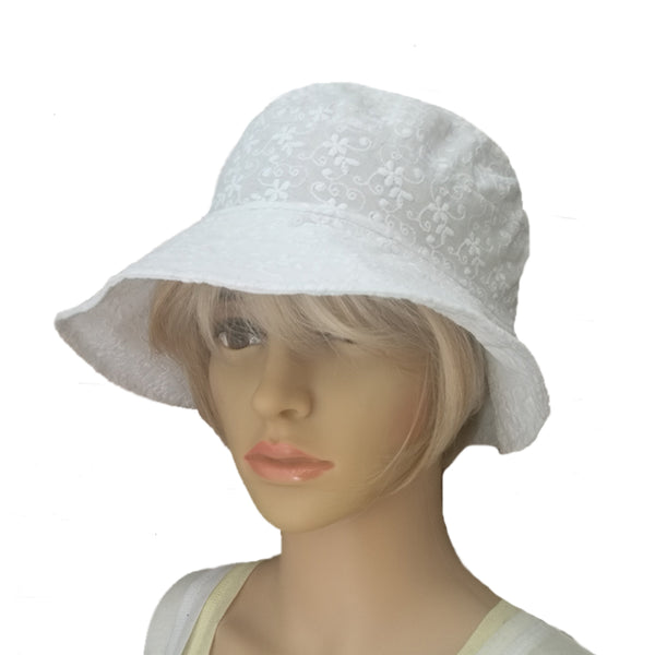 Wholesale White Cotton Sun Hat