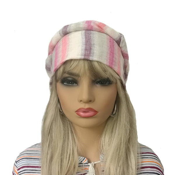 Wholesale Linen Women's Full Turban  Summer Head Wear
