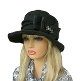 Wholesale Black Floppy Linen Hat for women