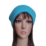 Wholesale Blue Casual winter womens slouch beanie