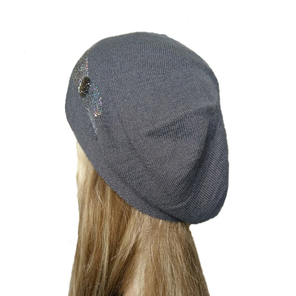 Wholesale Gray slouch beanie beret for women