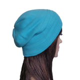 Wholesale Blue Casual winter  slouchy beanie