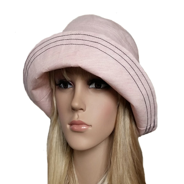 Rose cloche sun hat