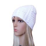 Wholesale White Knit Hat Cable Pattern for spring, fall, winter