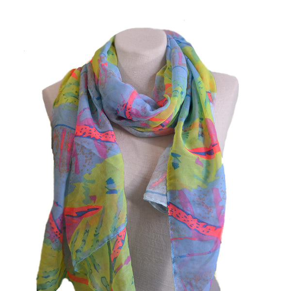 Summer multicolor fabric women's scarf