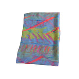 Summer multicolor fabric scarf for women