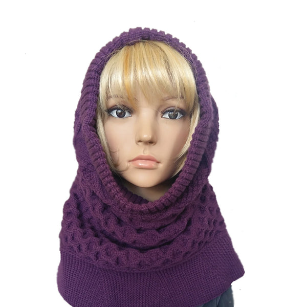 Knitted Snooded Cowl Scarf for winter