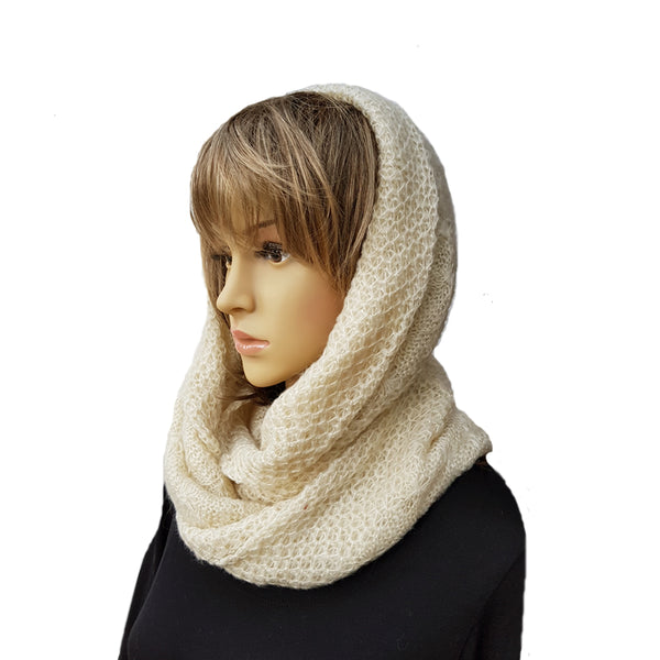 Knitted Infinity Scarf for Women Winter Warm Circle Knit