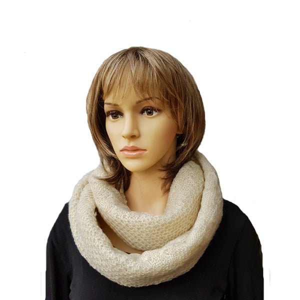 Knitted Infinity Scarf for Women Winter Warm Circle Snood