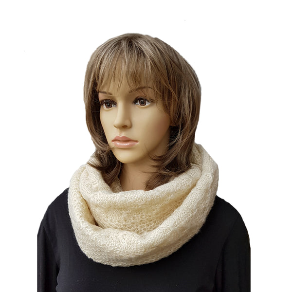Knitted Infinity Scarf for Women Winter Warm Circle Knit Cowl Snood