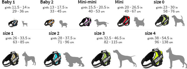 bergan dog harness size guide