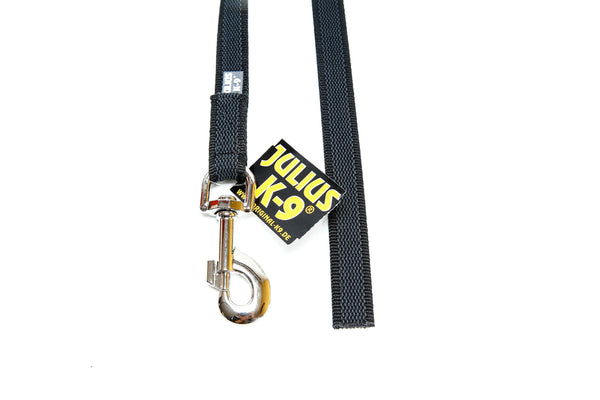 Julius K-9 Super Grip Leash - Black - 10 Meter - Pet Bound Co.