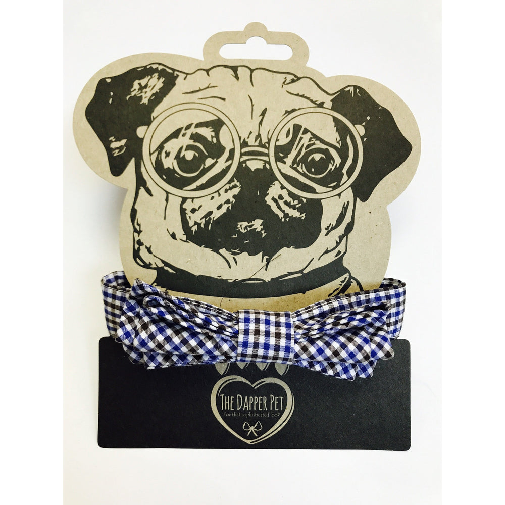 The Dapper Pet Checkered Bow Tie Colllar